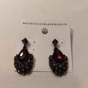 WHBM ruby teardrop earrings